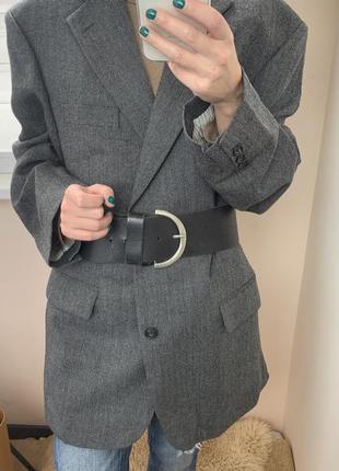 Шерстяной пиджак оверсайз