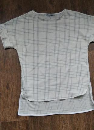 Стильная дизайнерская шелковая футболка a.tan