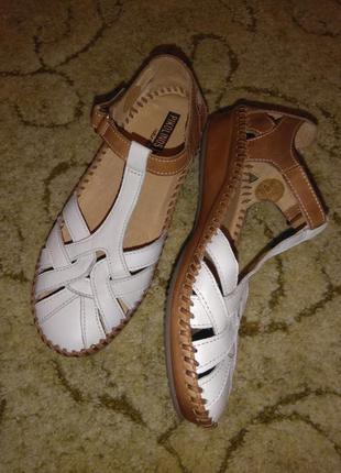 Кожаные сандалии/босоножки/мокасины/летние туфли pikolinos (испания) 100% кожа