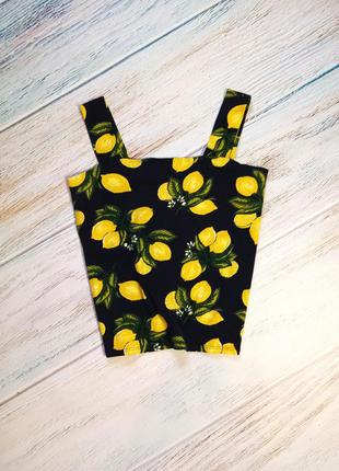 🍋топ хлопок принт лимоны dorothy perkins