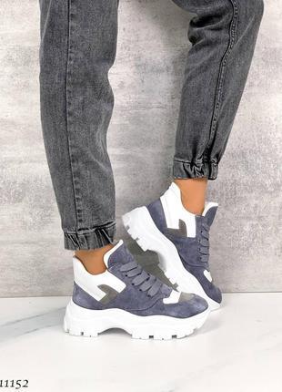 Ботинки натуральная кожа замша кроссовки