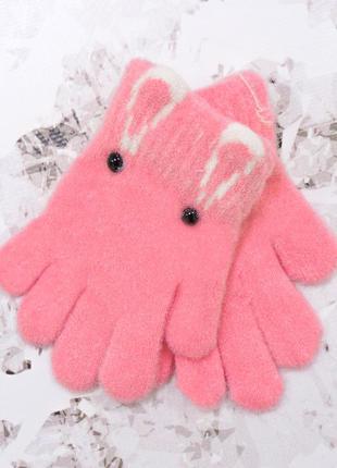 """Детские перчатки """"eyes"""" розовые"""