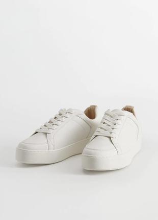 Кроссовки на платформе белые mango бвлі кросівки кеди базові