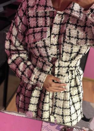 Рубашка пальто твидовая пиджак