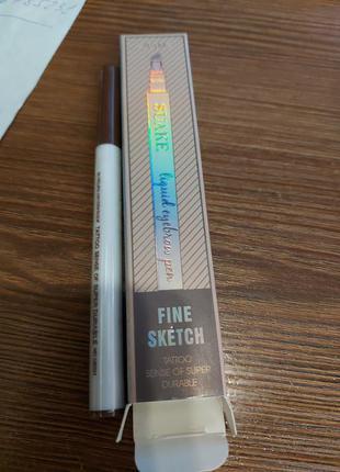 Карандаш маркер для бровей ультра кисточка тату ручка водостойкий