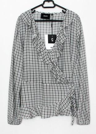 Женская стильная блуза блузка рубашка на запах object