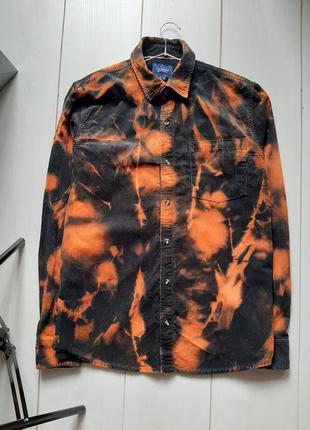 Вельветова сорочка pull&bear тай дай