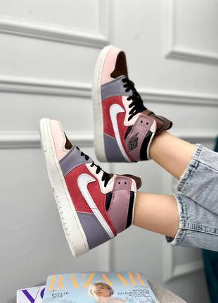 Шикарные женские кроссовки nike air jordan multicolour наложка