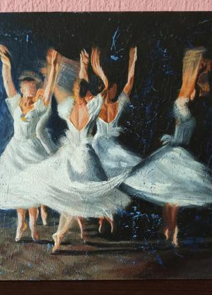 Картина акрилом балерини