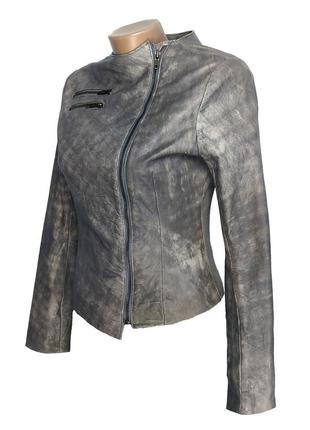 Женская кожаная куртка косуха на молнии от бренда heeli