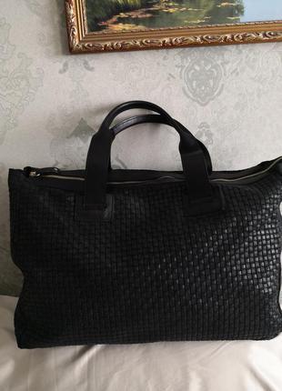 Большая кожаная дорожная сумка  vera pelle, италия👜👜💥💥💥💥🌹