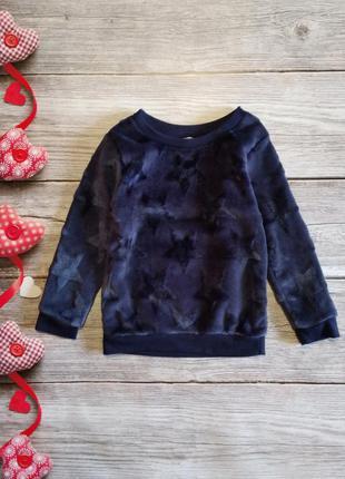 Плюшевый симпатичный свитер кофта джемпер primark на мальчика 2-3года
