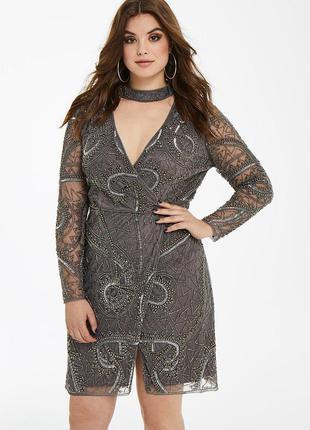 Maya curve оригинал платье вышивка бисер камни
