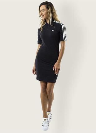 Платье adidas original чёрное