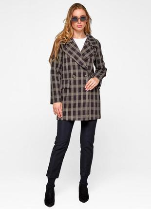Пальто -пиджак в клетку
