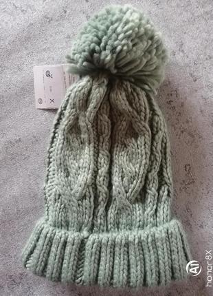 Мягкая тёплая женская шапка германия c&a