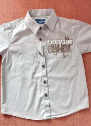 Летняя шведка, рубашка с коротким рукавом на лето 2-3 года