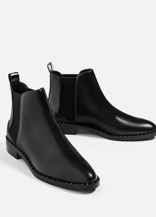 Стильные ботинки челси zara 40 р-р