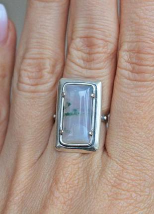 Серебряное кольцо хартов 1450 агат р.17,5