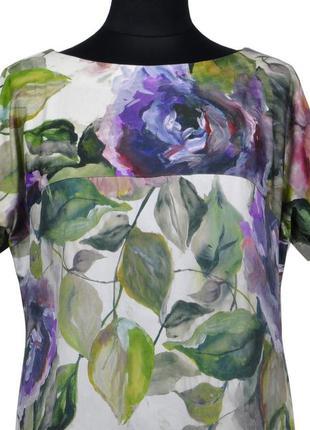 Платье в цветочный принт из натуральной ткани