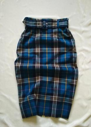 Актуальная миди юбка с поясом высокая посадка