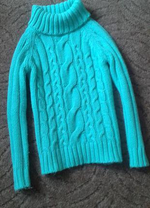 Теплый свитер в косы/ турция/р s