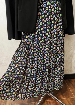 Винтажная плиссированная юбка миди