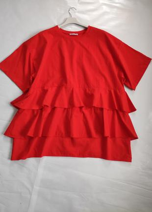Оверсайз блуза футболка  туніка -  zara
