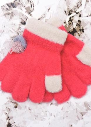 """Детские перчатки """"fruit"""" красные"""