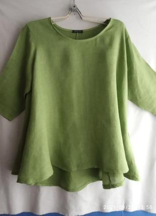 Льняная  стильная блузка
