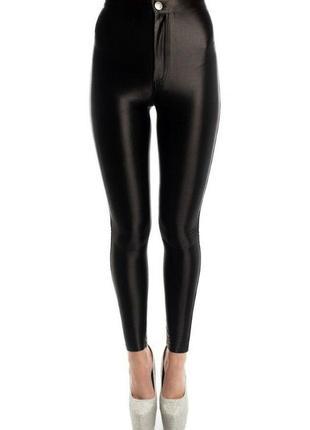Леггинсы штаны брюки чёрные женские