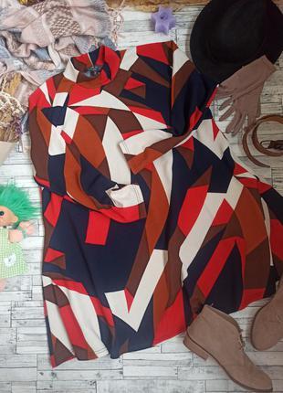 Яркое платье миди большого размера батал орнамент ax paris curve