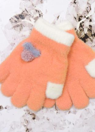 """Детские перчатки """"fruit"""" оранжевые"""