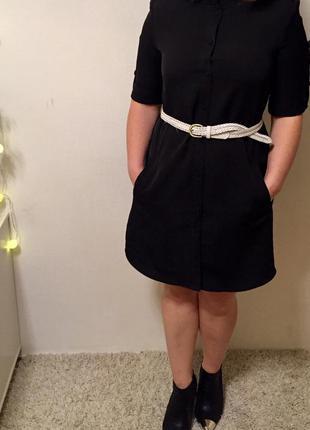 Плаття-рубашка з комірцем в венеціанському стилі р.l
