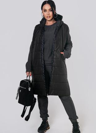 Женская демисезонная длинная куртка