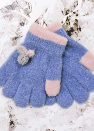 """Детские перчатки """"fruit"""" синие"""