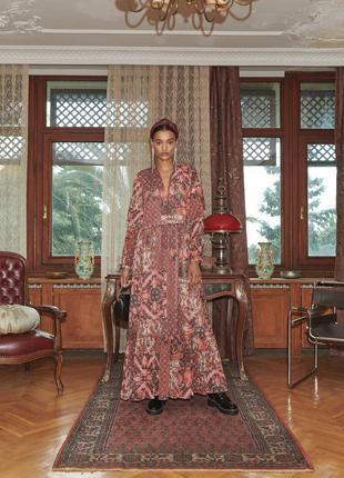 Платье макси шикарное в стиле zara  reserved