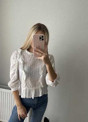 Блуза нежная укороченая