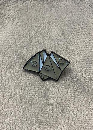 Металический пин брошь значок pin оригами фортуна