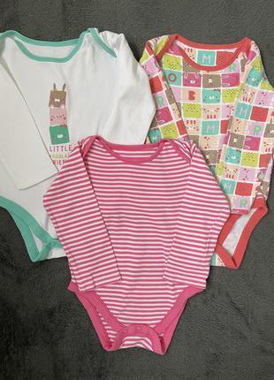 Боди mothercare набор из трёх