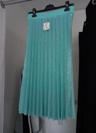 Спідниця плісе в паєтках. юбка плиссе