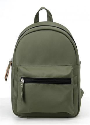Класичний жіночий рюкзак, зелений хакі ! 🔥доступний у різних розмірах!