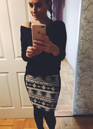 Тёплая юбка орнамент