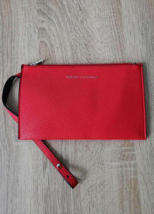Брендовая косметичка клатч красный италия