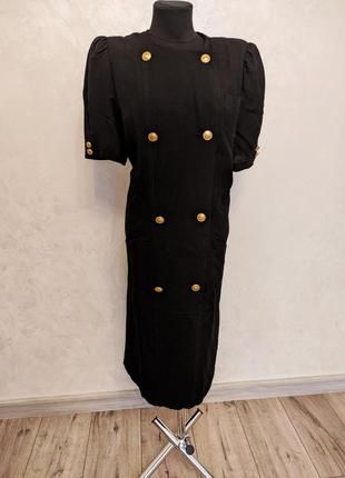 Винтажное платье пиджак с пуговицами франция