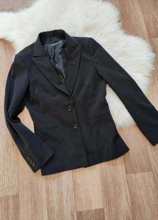 Женский классический деловой пиджак жакет в полоску полосочку