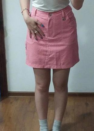 Спортивная мини  юбка с шортами