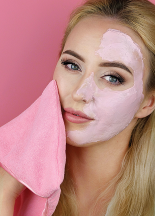 Салфетка для удаления масок с лица glov mask remover рукавичка для снятия маски