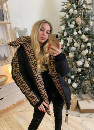 Трендовая 🖤 двухсторонняя куртка женская деми осенняя зимняя