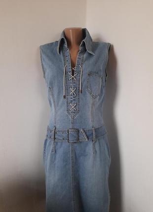 Винтажное платье джинсовый сарафан betty barclay